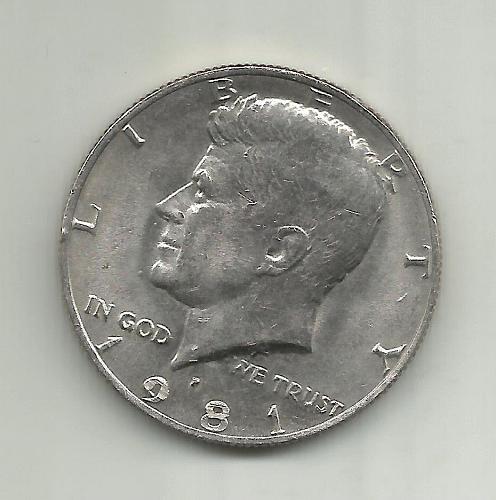 1981    KENNEDY HALF DOLLAR