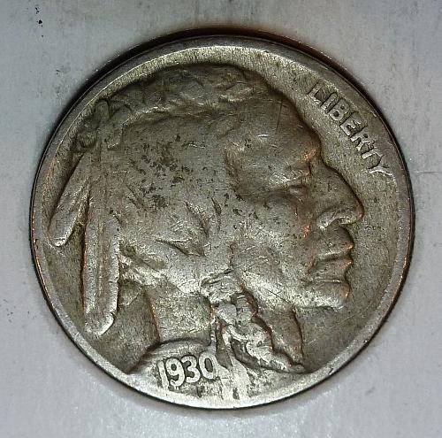 1930 P Fine Buffalo Head Nickel  ( 9045 )