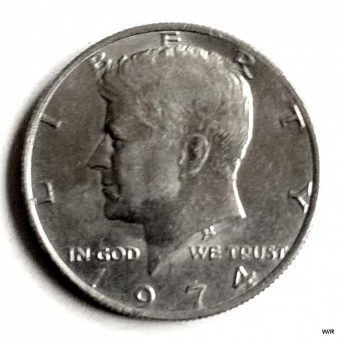 1974 P Kennedy Half Dollar: Clad Composition