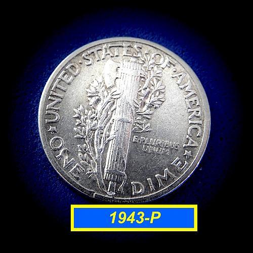 """1943-P """"Circulated"""" Dime  ☆   (#3995)a"""