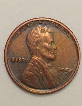 1955 Double Die Lincoln Wheat Cent Copy Stamped On Reverse For Sale Buy Now Online Item