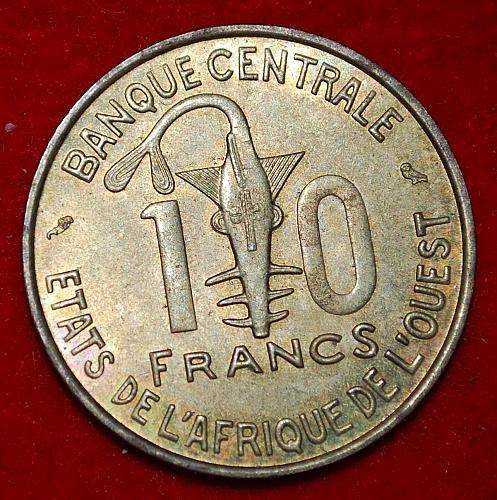 West Africa 10 Francs 1964