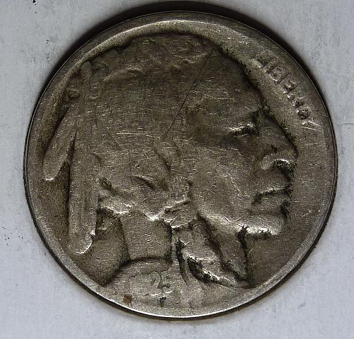 1925 D Very Good Buffalo Nickel VG Grade ( 7001 )