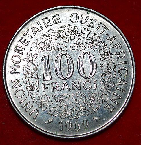 West Africa 100 Francs  1969