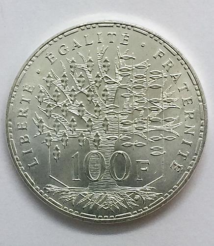 1982 France 100 Francs - 25,000 Minted