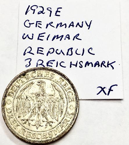 1929 E 3 Reichsmark - Germany - Weimar Republic
