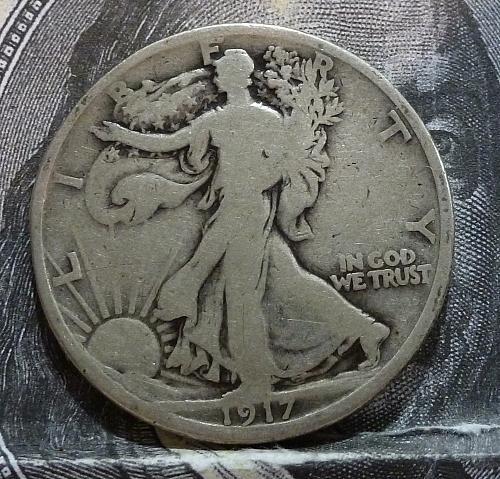 1917 P Reverse  Walking Liberty Half Dollar in Good Grade ( 6027 )