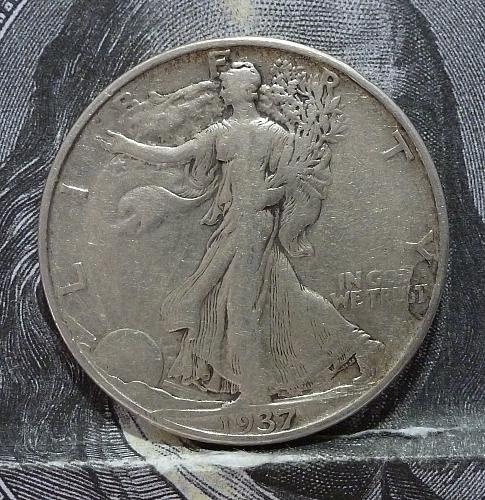 1937 P Walking Liberty Half Dollar in Very Fine Grade ( 6061 )