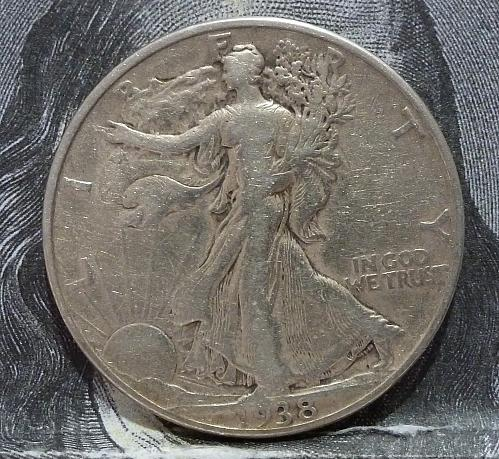 1938 P Walking Liberty Half Dollar in Very Fine Grade ( 6064 )
