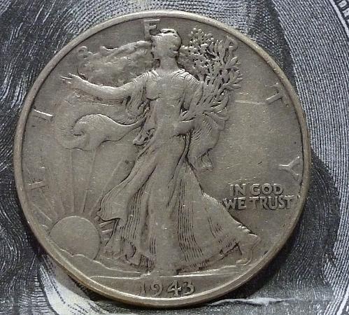 1943 P Walking Liberty Half Dollar in Extra Fine Grade ( 6013 )