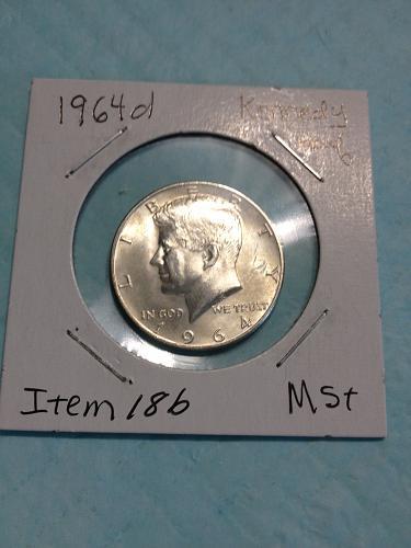 1964 D Kennedy Half Dollar item-18b uncirculated