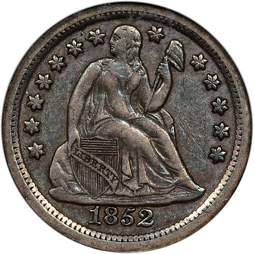 1852-O Seated Dime ANACS EF45 - ToughCOINS