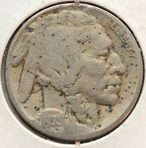 1935 P Buffalo Nickels