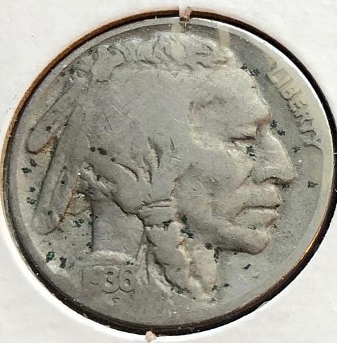 1936 P Buffalo Nickels