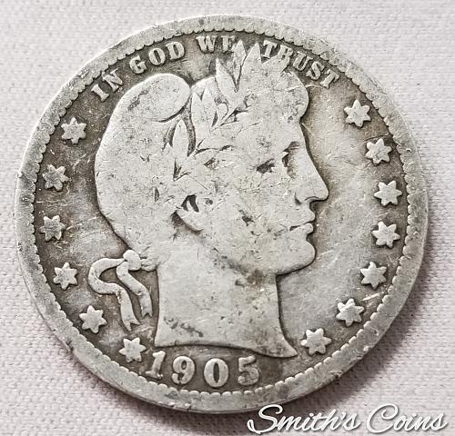 1905 S Barber Quarter - G 6