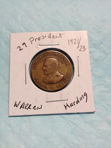 Warren Harding Presidential medal /token
