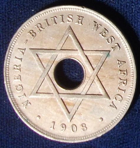 1908 British West Africa Penny XF-AU