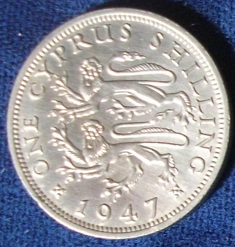 1947 Cyprus Shilling AU