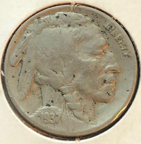 1937 P Buffalo Nickels