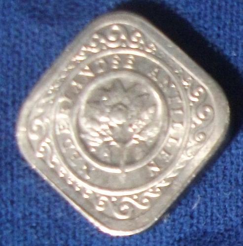 1962 Netherlands Antilles 5 Cents BU