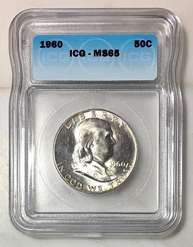 1960 50C ICG - MS65 Franklin Half Dollar