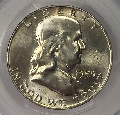 1959-D  PCGS MS 64 FBL Franklin Half-Dollar