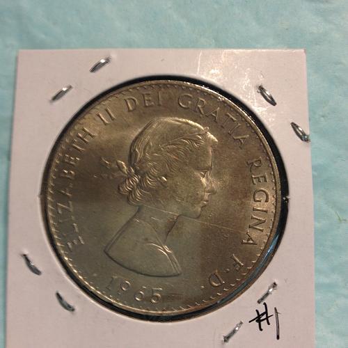 1965 Elizabeth ll Churchill Canadian Dollar item-1 uncirculated