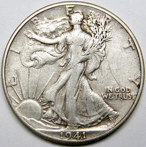 1941 P Walking Liberty Half Dollar #4
