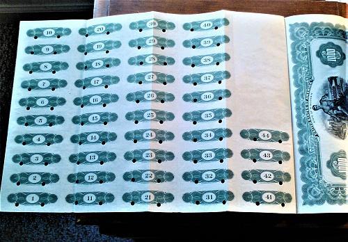 RARE -- SPECIMEN $1000 GOLD FIRST MORTGAGE BOND --- SERIES OF 1932