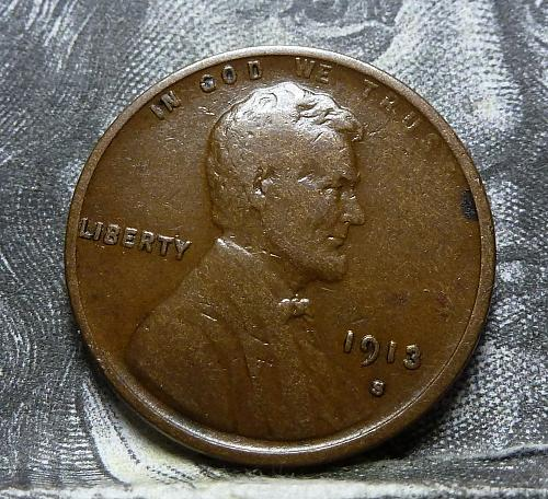 Here is a 1913 S F Lincoln Wheat Cent  Grade Fine ( 4012 )