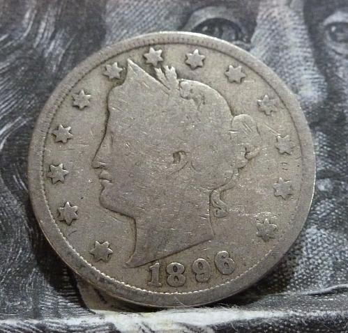 Here is a Good 1896 Liberty Nickel in Good Grade ( 5008 )