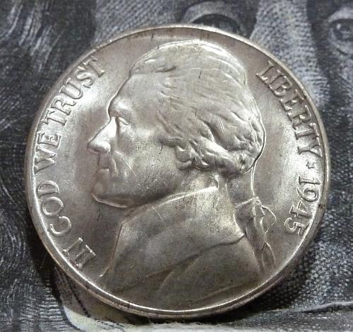 1945 D BU Silver War Jefferson Nickel Brilliant Uncirculated  # 6005