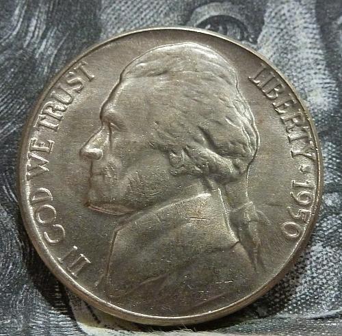 1950 D BU Jefferson Nickel Brilliant Uncirculated  # 6010
