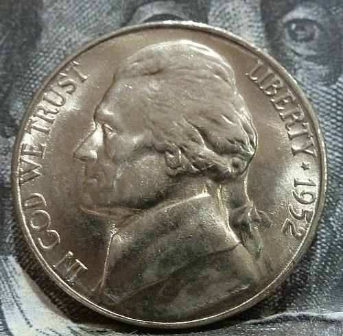1952 S BU Jefferson Nickel Brilliant Uncirculated  # 6011
