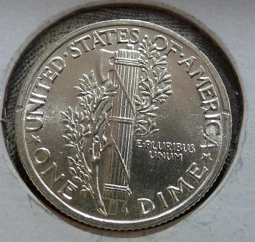 1941 P Gem BU with FSB Mercury Dime BU Graded ( 8073-Y )