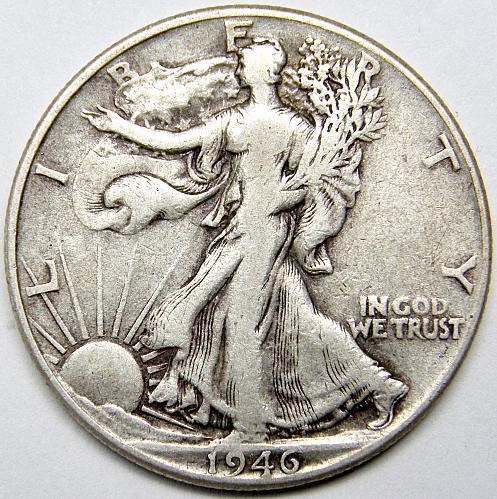 1946 P Walking Liberty Half Dollar #4