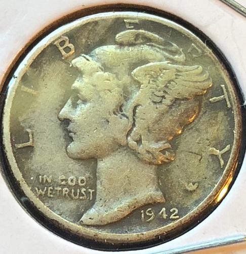 1942 D Mercury Dimes
