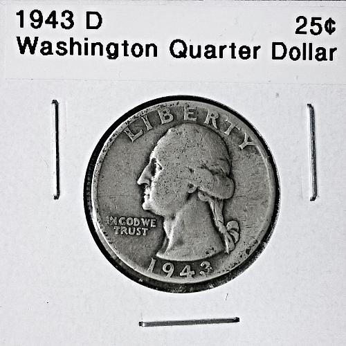 1943 D Washington Quarter Dollar - 6 Photos!