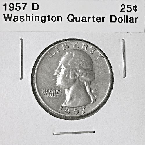 1957 D Washington Quarter Dollar - 6 Photos!