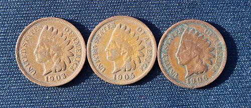 1903 Indian Head Penny Plus 2 more