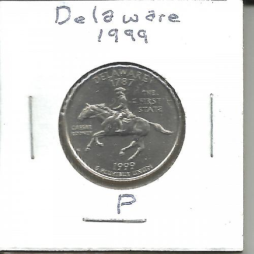 1999 P  DELAWARE STATE QUARTER