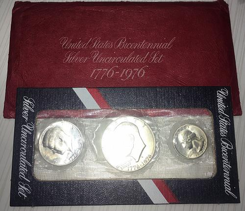 "1976-S 40% SILVER SPECIAL MINT SET ""Bi-Centennial"" ORIG. GOVT PACK. FV$1.75"