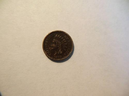 1859 Copper Nickel Indian Head Cent