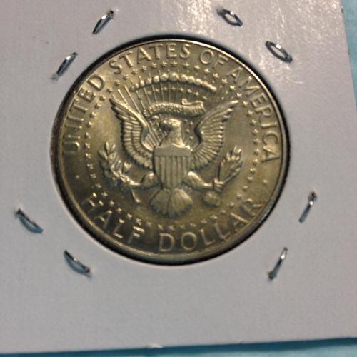 1967 Kennedy Half Dollar item-4b uncirculated toned. MS+ 40% silver