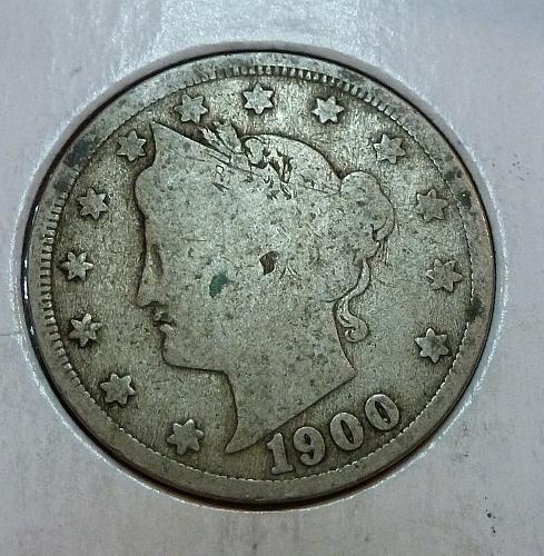 1900 Liberty V Nickel ( 9014 )