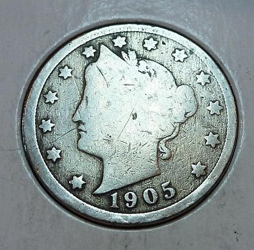1905 Liberty V Nickel ( 9012 )
