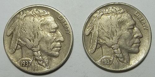 2 Buffalo Nickels LOT BNWK