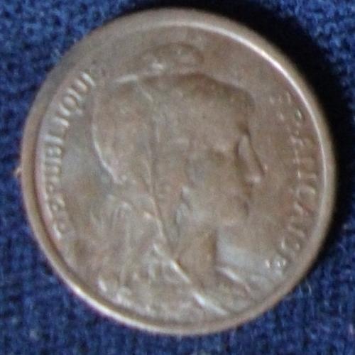 1912 France Centime AU