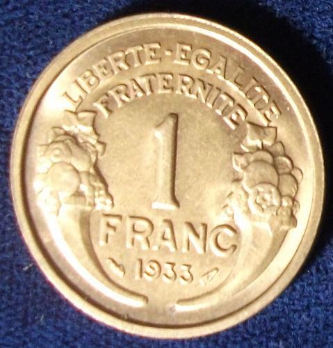 1933 France Franc BU
