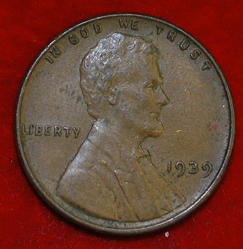 1939 P Lincoln Wheat Cent Small Cents
